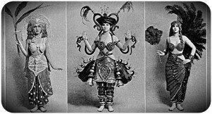 New costume designs in Tatler magazine, 1917.