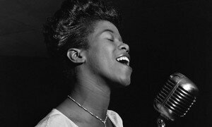 Sarah Vaughan by William P Gottlieb. Courtesy Wikipedia