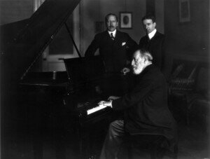 Camille Saint-Saëns at the piano, 1916