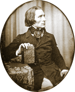 Earliest known photograph of Liszt (1843) © Wikipedia