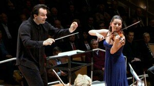 Andris Nelsons and Baiba Skride © Berliner Philharmoniker Digital Concert Hall
