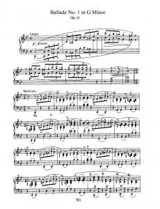 Chopin g minor ballade