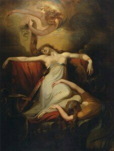 Painting of Dido by Henry Fuseli, 1781, oil on canvas. ©   Yale Center for British Art, New Haven, CT