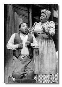 "Thomas Carey and Carol Brice in ""Porgy & Bess""Photo courtesy of Sooner Magazine"