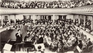 Camille Saint-Saëns at the farewell concert, year 1913