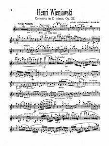Wieniawski Concerto op. 22