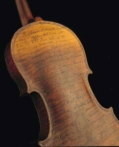 Civil War violin used as war diary by Civil War soldier Solomon Conn 1863 © History Lovers Club