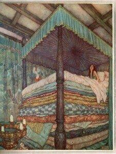 Edmund Dulac: The Princess and the Pea (1911)