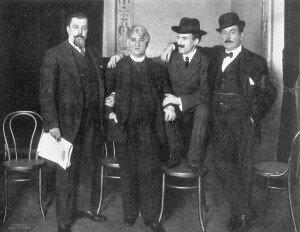 Gatti-Casazza, Belasco, Toscanini, and Puccini, year 1910, the year La Fanciulla del West was premiered
