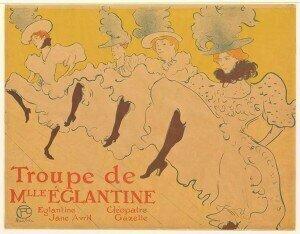 Lithograph of Henri de Toulouse-Lautrec