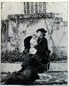Richard Wagner, composer of the Siegfried Idyll and Eva Wagner Triebschen