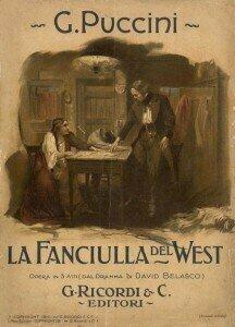 Score Cover to La Fanciulla del West