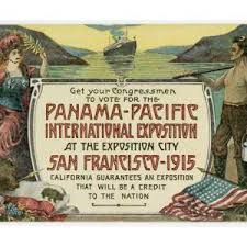 Poster for the Panama Pacific International Exposition, premiere place of Hail, California