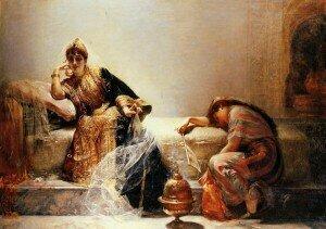 Scheherazade, by Edouard Frederic Wilhelm Richter,1844 – 1913