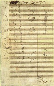 Original score of the Fifth Symphony