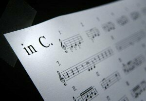 "Sheet music for ""In C,"" the Terry Riley composition credited with pioneering the Minimalist movement. (Don Bartletti / Los Angeles Times)"