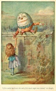 Alice and Humpty Dumpty (John Tenniel)