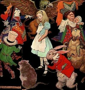 Alice and the Wonderland Characters (Jessie Wilcox Smith)