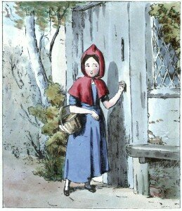 Little Red Riding Hood Knocking at Her Grandmother's Door (1845)