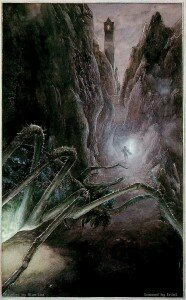 Shelob after Sam (Alan Lee)