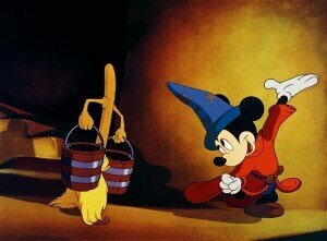 Mickey Mouse as The Sorcerer's Apprentice in Disney's Fantasia