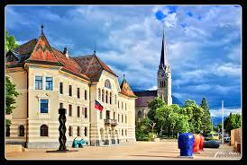 Town of Vaduz in Lichtenstein