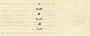 """The movements of Cage's 4'33"""", marked TACET, meaning """"silent"""""""