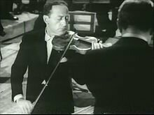 Jascha Heifetz, the violinist who premiered the Korngold Violin Concerto