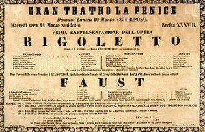 Poster of Rigoletto premiere