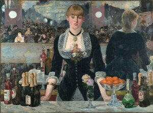 Manet: Un bal aux Folies bergères / A Bar at the Folies-Bergère  (1882) (Courtauld Institute of Art, London)
