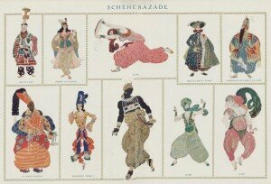 Leon Bakst's costumes for the Ballet Russes setting of Rimsky-Korsakov's Shéhérazade