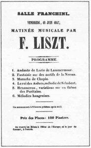 Liszt Program at Salle Franchini