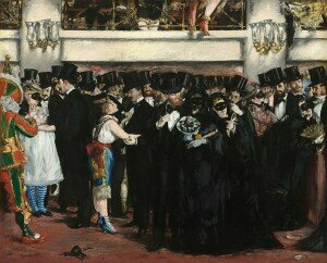 Manet: Bal masqué à l'opéra / Masked Ball at the Opera (1873) (National Gallery of Art, Washington, DC)