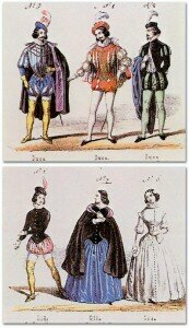 Premiere costumes for the Duke and Gilda