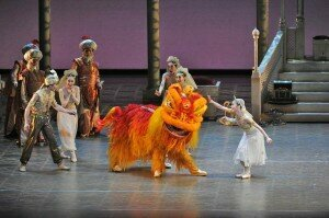 The Lion Dance in Aladdin, Birmingham Royal Ballet