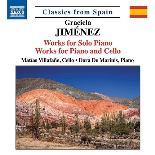 JIMÉNEZ, G.: Piano Solo Works / Cello and Piano Works – En los ojos de las llamas / 3 Pieces / La luz de enero / Mediterráneo
