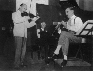 Béla Bartók with Benny Goodman, 1940 recording session
