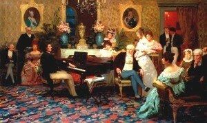 Chopin Playing the Piano in Prince Radziwill's Salon - Henryk Hektor Siemiradzki (private collection)