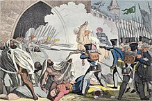 Fighting at the gates of Algiers, circa 1830