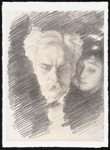 Sargent: Gabriel Fauré and Mrs. Patrick Campbell (1896) (A Private Collection care of Robert Holden Ltd London)