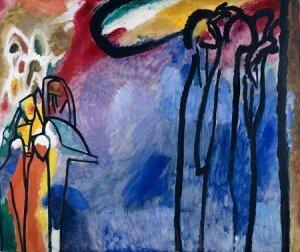 Kandinsky: Improvisation 19 (1911) (The Städtische Galerie im Lenbachhaus, Munich)