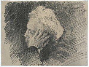 Sargent: Gabriel Fauré, about 1898 (Isabella Steward Gardner Museum, Boston)