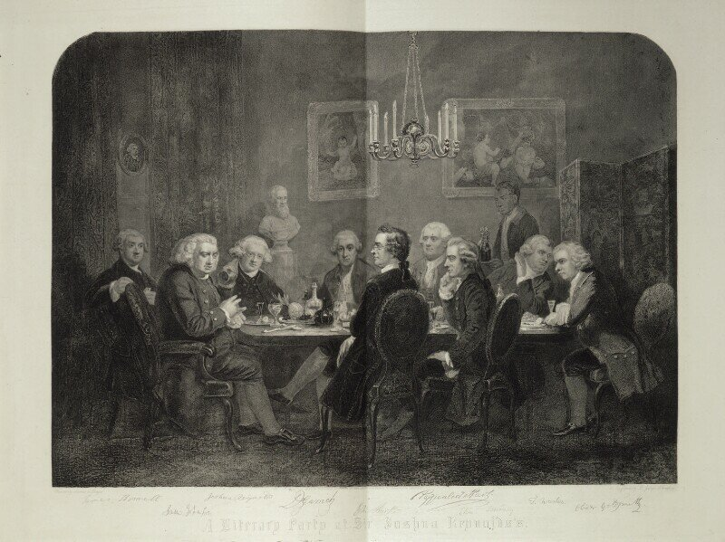 Thompson, A literary party at Sir Joshua Reynolds's (1851) (National Portrait Gallery, London)