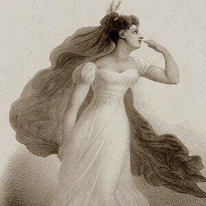 Harriet Smithson as Ophelia in Shakespeare's Hamlet