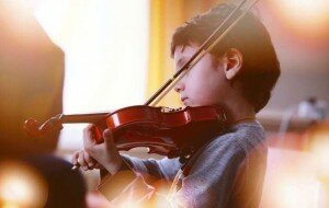 Younger children are less self-conscious about making music. Credit: www.shutterstock.com