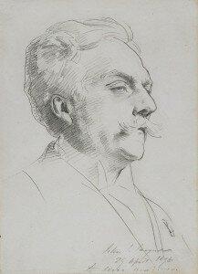 Sargent: Gabriel Fauré (1896) (Harvard Art Museums / Fogg Museum, Cambridge, MA)