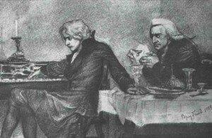 Wolfgang Amadeus Mozart and Antonio Salieri