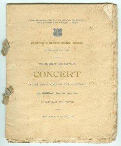 Old concert programme