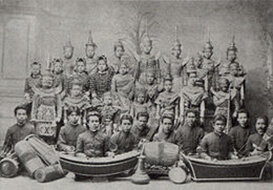 Siamese theatre group around 1900© Wikimedia commons