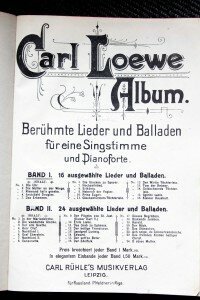 Carl-Loewe Ballad and Song Collection